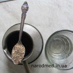 Чайна ложка цикорію на півстакана води